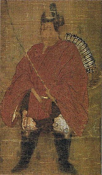 Minamoto no Tameyoshi - Minamoto no Tameyoshi, from the collection of Shiramine Shrine