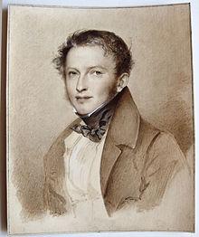Karl Klingemann in einer Miniatur von August Grahl, entstanden zwischen 1825 und 1850. (Quelle: Wikimedia)