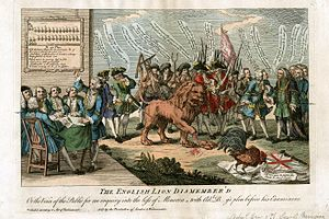 Battle of Minorca (1756) - Image: Minorque 1756 The English Lion Dismembered
