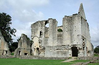 ruin in Minster Lovell, England