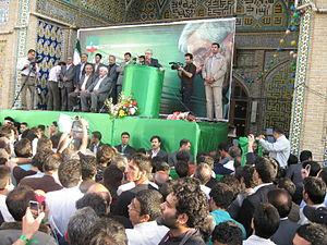 Mir-Hossein Mousavi presidential campaign, 2009 - Image: Mir Hossein Mousavi in Zanjan by Mardetanha 0885