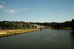 Mirik town with a view of Sumendu Lake