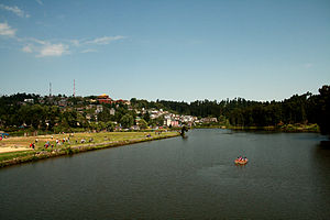Mirik - Mirik town with a view of Sumendu Lake