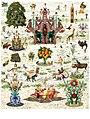 Miroslav Huptych, kalendář Ráj (Paradise) 12. list (2017), počítačová grafika 650 x 490 mm.jpg