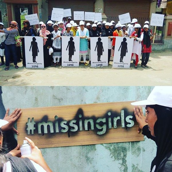 File:Missing girl stencil and rural awareness.jpg