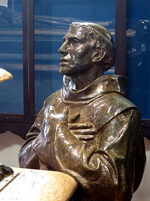 Fermín Lasuén - Fray Fermín Lasuén as depicted on a cenotaph made for Fray Juniperro Serra