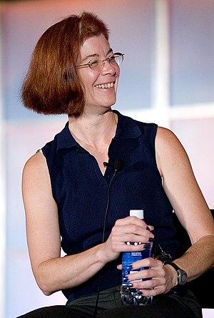 Mitchell Baker - Mitchell Baker at OSCON 2005