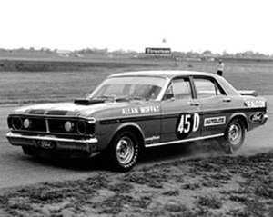 Allan Moffat - Moffat in the works Ford Falcon GTHO Phase III at Surfers Paradise International Raceway, February 1972