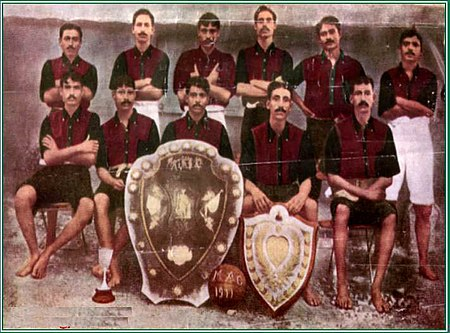 The IFA Shield Winning Team of 1911 Mohun Bagan 1911 IFA shield winning team.jpg