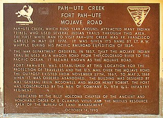 Mohave Trail Historical trail and road