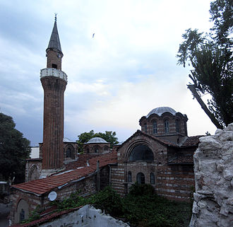 Church-Mosque of Vefa - The mosque (right) and the exonarthex (left) viewed from the south.