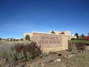 Monarch High School (Colorado) - Image: Monarch High School (Colorado) Main Entrance Sign