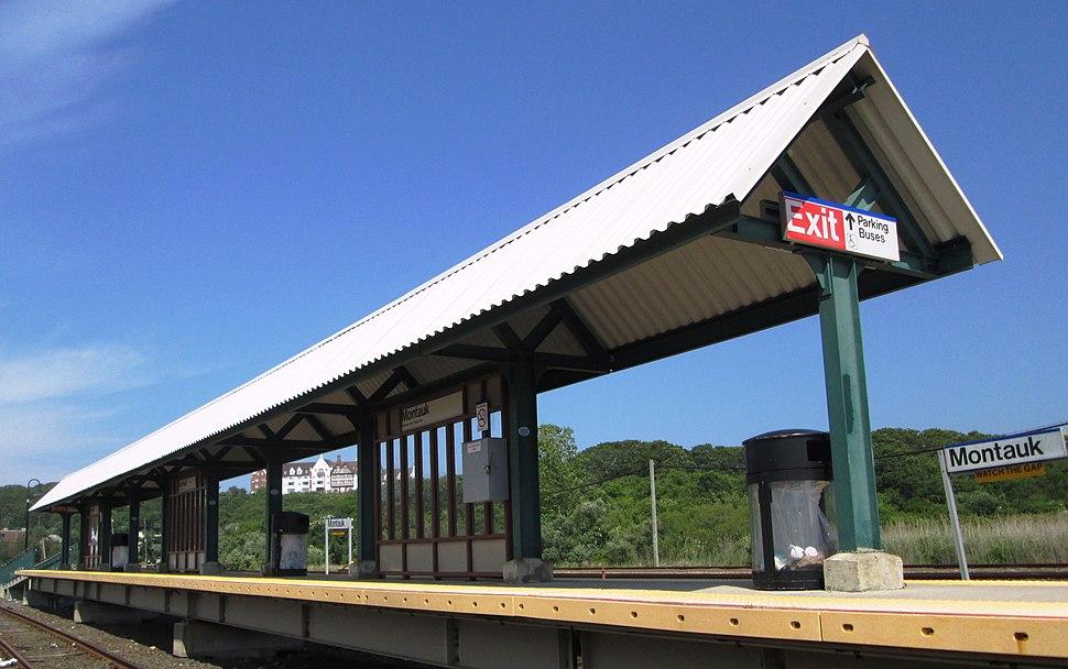 Montauk LIRR train station