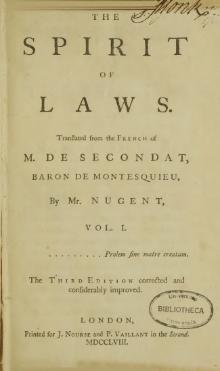 Montesquieu - The spirit of laws.djvu