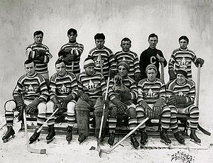 Events of National Historic Significance (Canada) - The years of triumphs and tribulations of the Montreal Canadiens, seen here during the 1912-3 season, were designated the Club de hockey Canadien National Historic Event in 2008