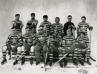 Events of National Historic Significance - The years of triumphs and tribulations of the Montreal Canadiens, seen here during the 1912–13 season, were designated the Club de hockey Canadien National Historic Event in 2008