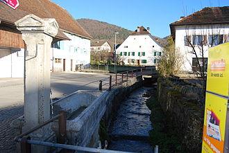 Montsevelier - Montsevelier river in Montsevelier village
