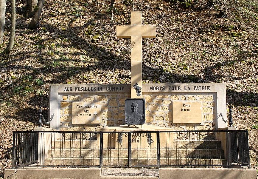 De Monument des Fusillés bei Fontoy