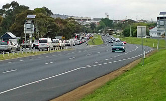 Hobart Area Transportation Study - Congestion on the Brooker Highway at Montrose