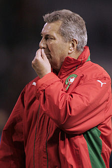 Morocco vs Gabon, Roger Lemerre, March 28 2009.jpg