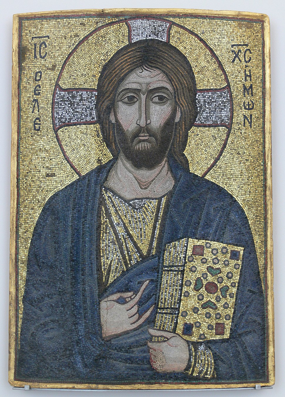 Mosaik-Ikone Christus der Barmherzige