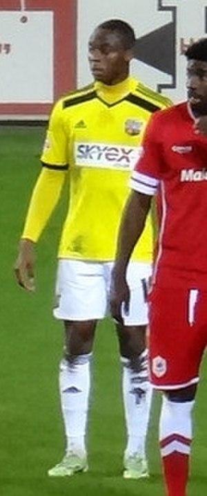 Moses Odubajo - Odubajo playing for Brentford in 2014.