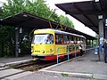 Most, nádraží, tram 229 - Severočeský Metropol, linka 3, v nástupní.jpg