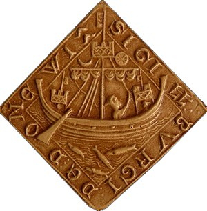 Dunwich - Seal of Dunwich, cast (French National Archives, Paris)