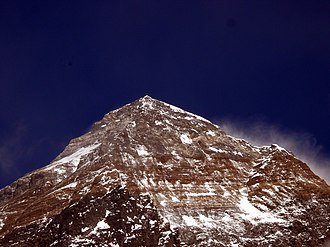 South Summit (Mount Everest) - The south summit is the sub peak on the right-side.