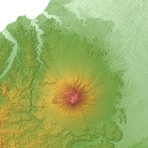 Mount Iwaki - Relief Map