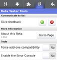 Mozilla Fennec 4.0b2 beta tester tools.png
