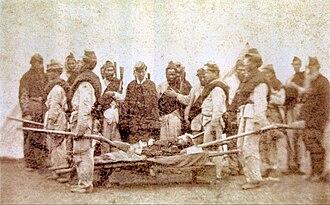 Battle of Boquerón (1866) - Image: Muerte de León de Palleja