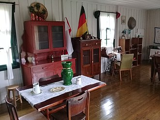 Multiculturalism - House with elements of people from different countries, including Russians and Germans, in Carambeí, south of the country, a city of Dutch majority