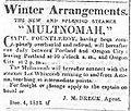 Multnomah (sidewheeler) 1852 advertisement.jpg