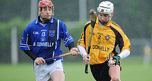 Ulster GAA - Antrim's Aaron Graffin (right) representing Ulster in the 2008 Railway Cup hurling semi-final against Munster