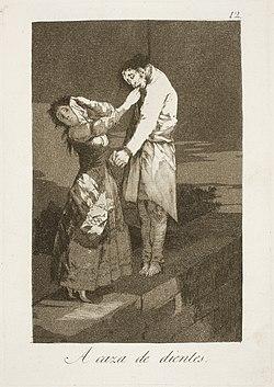 Museo del Prado - Goya - Caprichos - No. 12 - A caza de dientes.jpg