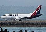 NAM Air Boeing 737-500 at Bali Airport.jpg