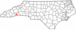 Location of East Flat Rock, North Carolina