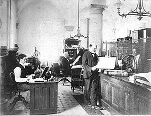 North Carolina State Treasurer - North Carolina State Treasurer's Office in State Capitol, c. 1890s