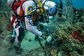 NEEMO 21 Reid Wiseman picks samples during a waterwalk.jpg