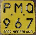 NETHERLANDS 2002 -MOPED-SCOOTER PLATE - Flickr - woody1778a.jpg