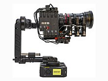 NEWTON S2 gimbal for remote control and 3-axis stabilization of a RED camera, Teradek lens motors and Angeniuex lens.