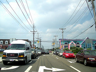 New Jersey Route 72 - Eastbound Route 72 near its terminus at Long Beach Boulevard in Ship Bottom.