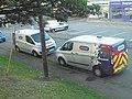 NPower Ford Transit vans, Coppice Gate seem from Ripon Road, Harrogate (12th September 2018).jpg