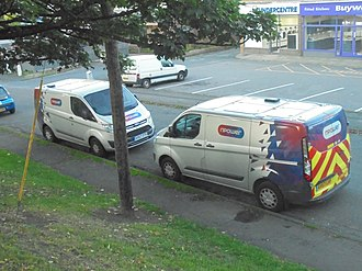 Npower (United Kingdom) - NPower Ford Transit vans in Harrogate, North Yorkshire.
