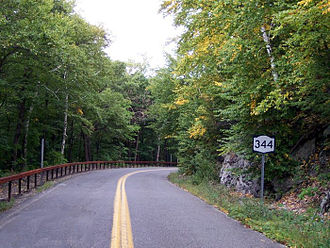 Taconic State Park - NY 344, the entrance to this section of park