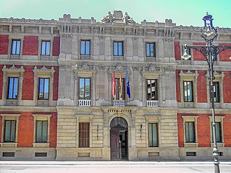 Navarre - Façade of the Parliament of Navarre in Pamplona