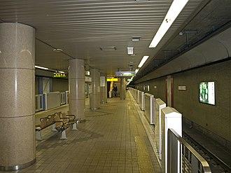 Nagamachi-Minami Station - The platforms