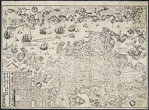 Nagasaki - Plan of Nagasaki, Hizen province, 1778