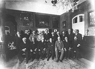 Isaac Leib Goldberg - Isaac Leib Goldberg with participants of First Zionist Congress in Jerusalem